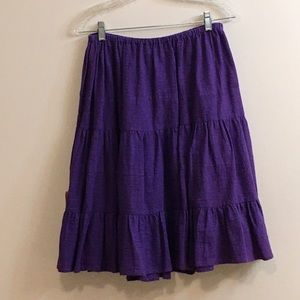 Bloomingdale's Sz Large purple cotton skirt